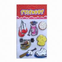 Buy cheap 3D layers handmade chipboard stickers, non-toxic and eco-friendly, available in various designs product