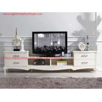 Buy cheap Ivory Classic TV stand wood furniture Audiovisual cabinet in White matt PU painting from wholesalers