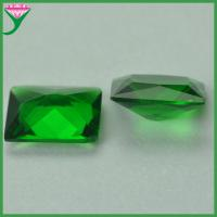Buy cheap Factory wholesale green rectangle cut colored crystal glass gemstone from wholesalers