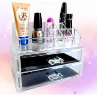 Buy cheap Cosmetic Custom Acrylic Products Multiple Display Makeup Box Case With Drawers from wholesalers
