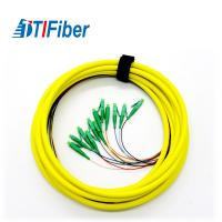 Buy cheap Singlemode 9/125 Fiber Pigtails Patch Cords LC APC Connector 3 Years Warranty product