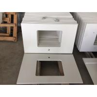 Buy cheap Durable Prefabricated Vanity Countertops , Absolute White Natural Quartz Vanity Top from wholesalers
