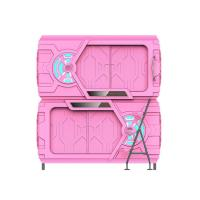Buy cheap Pink Safe Space Capsule Bed Double - Deck Intelligent LED Light from wholesalers