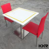 Buy cheap Artificial Marble Resin Solid Surface Table for Cafateria Stain Resist from wholesalers