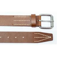 Buy cheap Mens 100% Genuine Leather Belt  Prong Roller Buckle OEM / ODM from wholesalers