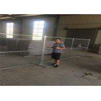 Buy cheap 8ft x 12ft temporary chain link fence 12ga wire diameter chain mesh spacing 50mmx50mm hot dipped galvanized free stand from wholesalers
