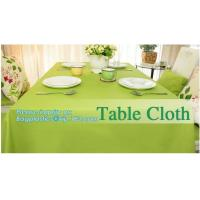 Buy cheap Disposable tnt pp spunbond non woven table cloth, modern luxury restaurant dining used non woven long teal pvc plastic t from wholesalers