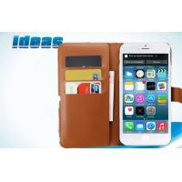 Buy cheap iPhone 6 cell phone leather pouches / Brown PU Leather Wallet Case from wholesalers