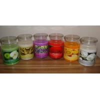 China Decor candle 9x11cm popular large scented large glass jar candle with fragrance essential oil on sale