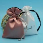 Buy cheap Rose Gold Silk Satin Crystal Aura Packaging Drawstring Bag from wholesalers
