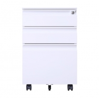 Buy cheap Three Drawers Cold Rolled Mobile Pedestal Filing Cabinets from wholesalers