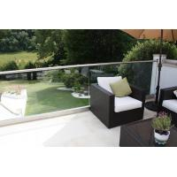 Buy cheap Exterior aluminum u base channel glass railing for balcony use product