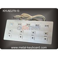 Long Life 13 Keys Metal Medical keyboards , vandal proof keyboard