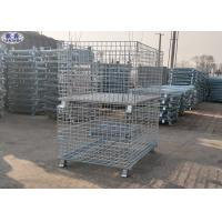 Buy cheap Foldable Lockable Metal Wire Mesh Pallet Cages for Transportation from wholesalers