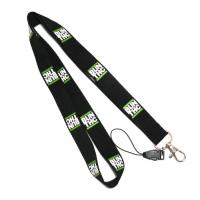 Buy cheap Black Detachable Cell Phone Neck Lanyard With Silk Screen Print Logo from wholesalers