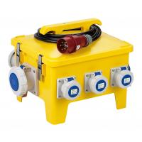 Yellow Mobile Portable Electrical Distribution Box Shock Resistant PE Enclosure