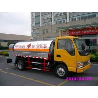 Diesel Delivery 4x2 JAC Mobile Oil Tank Truck , Refuelling Petroleum Tanker Trucks