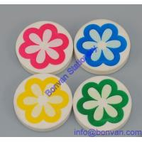 Buy cheap flower printed round promotional eraser for advertising use from china factory from wholesalers