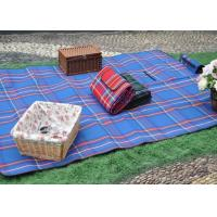 Buy cheap Bright Blue Sky Color Check Printed waterproof outdoor blanket , portable picnic blanket from wholesalers