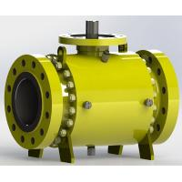 Quality Trunnion Bolted Pipeline Ball Valve, Fire safe Design for sale