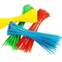 Buy cheap 2.5mm x 150mm Colorful Plastic Nylon Self-locking Packaging Cable Wire Zip Ties from wholesalers
