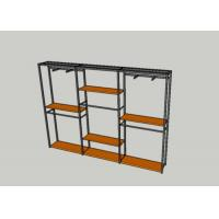 Buy cheap Wooden Retail Garment Display Stands , Clothes Hanging Rack With Shelves from wholesalers