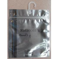 Buy cheap Antistatic Underwear Packaging Resealable Zip Lock Plastic Bag with Hook from wholesalers