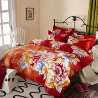Buy cheap Luxury 9 Pieces Home Bedding Comforter Sets Double Full Size Red Color from wholesalers