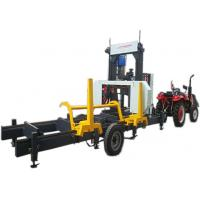 Buy cheap Horizontal Wood Bandsaw Sawmill Timber Portable Mill Machine with hydraulic log loading arm from wholesalers