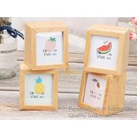 Buy cheap Natural Beech Wood Blank Personalized Wooden Shadow Photo Frame Box, Small Order, Laser Engrave, Quality Guarantee product
