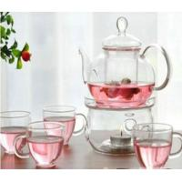 Buy cheap Transparent Color Glass Water Kettle Glass Tea Kettle With Infuser Lw-K24 from wholesalers