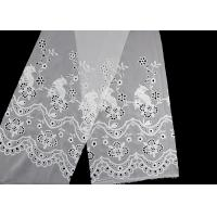 Buy cheap 49 Inch Chiffon Embroidered Lace Fabric With Floral Bird Eyelet product