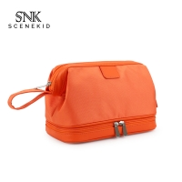China Double Layers Men Travel Wash Portable Waterproof Polyester Cosmetic Bag on sale