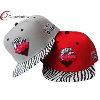 Buy cheap Customized Cotton Snapback Baseball Caps with Blending Fabric , personalised from wholesalers