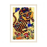 Buy cheap Tiger Chinese Gouache Painting from wholesalers