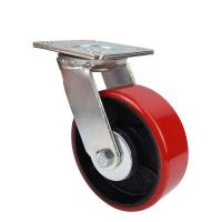Buy cheap Heavy wheels of industrial Caster with red PU wheel from wholesalers