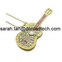 Buy cheap New Cute Jewelry Guitar USB Flash Drives Full Capacity Guaranteed from wholesalers