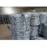 Buy cheap 1000mm SWG14x14# Hot Dipped Galvanized High Tensile Barbed Wire from wholesalers