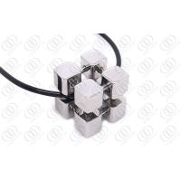 Buy cheap Fashion Stainless Steel Jewelry Cube Pendant  Full Polished Shiny Finish , Metal Pendants from wholesalers