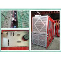 Buy cheap Personnel And Material Construction Hoist Twin Cage , Building Hoist Overload Protection product