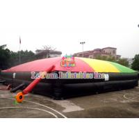 Buy cheap 055mm Tarpauline Inflatable Sport Games / Jump Air Bag For Snowboard from wholesalers