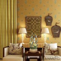 Buy cheap New Arrival Yellow 0.53*10M Suede Wallpaper Germetric Pattern Elegant Home Decoration from wholesalers