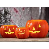 Buy cheap Led Pumpkin Candle With Yellow Light , Plastic Outdoor Pumpkin Lights from wholesalers