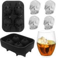 Buy cheap Flexible 3D Skull Silicone Ice Cube Mould For Beer from wholesalers