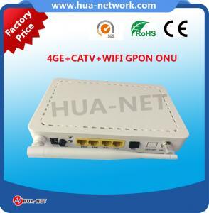 Buy cheap Plastic white ONU FTTH ONU/Fiber ONU 4FE+WIFI+CATV GPON ONU/ONT with competitive price product