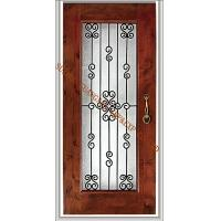 Buy cheap handmade glass  wrought iron panels glass for doors 25mm America good selling from wholesalers