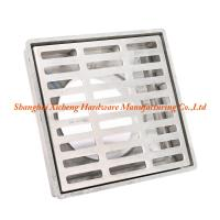 Buy cheap Aluminum Metal  Square Floor Drain Cover ISO9001 Certificate Floor Drainer Strainer from wholesalers