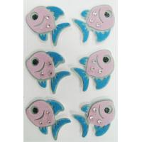 Buy cheap Handmade Cute Fish Stickers , 3D Dimensional Fuzzy Stickers For Notebook from wholesalers