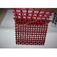 China Red 72A Manganese Steel Crusher Mining Wire Screen Mesh on sale