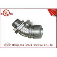 Buy cheap 3/4 Flexible Conduit Fittings / Insulated Flexible Duct Connector , UL Certification product